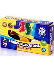 Astra Farby Plakatowe (6 kolorów) 20 ml