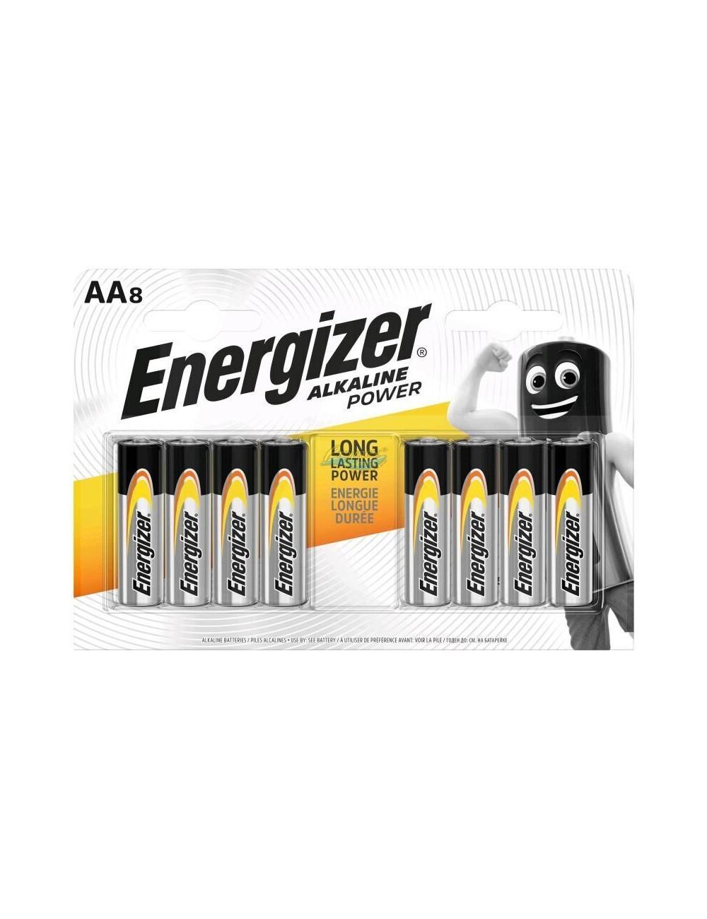 Energizer Alkaline Power Baterie Alkaliczne AA LR6 (1,5V) 8 szt