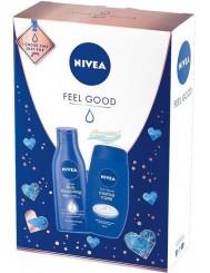 Nivea Feel Good Zestaw dla Kobiet – Mleczko do Ciała 250 ml + Żel pod Prysznic 250 ml