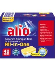 Alio Geschirr-Reiniger-Tabs All-in-One Niemieckie Tabletki do Zmywarki 40 szt