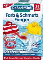 Dr Beckmann Chusteczki Wyłapujące Kolor i Brud z Prania Farb & Schmutz Fanger 28 szt (DE)