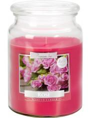 Aura Scented Candle Duża Świeca Zapachowa w Szkle z Wieczkiem Róża