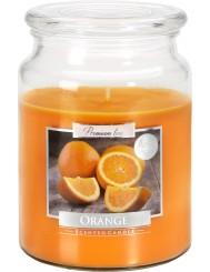 Aura Scented Candle Duża Świeca Zapachowa w Szkle z Wieczkiem Pomarańcza