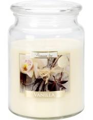 Aura Scented Candle Duża Świeca Zapachowa w Szkle z Wieczkiem Vanilla 1 szt