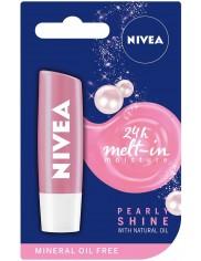 Nivea Pomadka Ochronna Pearly Shine – z ekstraktem z pereł i jedwabiu