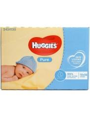 Huggies Chusteczki Nawilżane dla Dzieci w Kartonie Pure (10 x 56 szt) (UK)