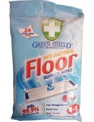 Green Shield Chusteczki do Podłóg 4-w-1 Floor Anti-Bacterial 24 szt (UK)