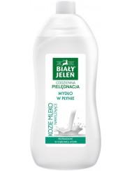 Biały Jeleń Hipoalergiczny Nawilżające Kozie Mleko Zapas Mydła w Płynie 1 L