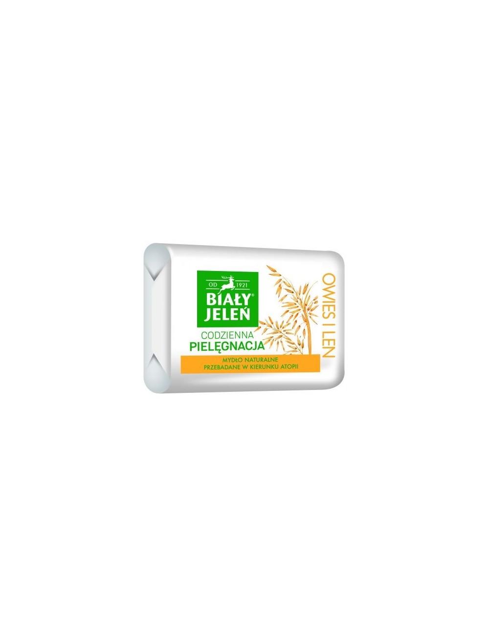 Biały Jeleń Hipoalergiczny Mydło Naturalne Premium z Owsem i Lnem 100 g