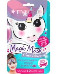 Eveline Oczyszczająca Maska w Płacie 3D Magic Mask Cute Unicorn 1 szt