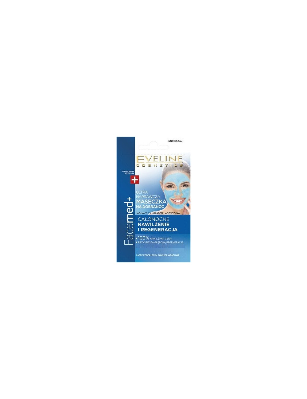 Eveline Ultra Naprawcza Maseczka na Dobranoc 7 ml - całonocne nawilżenie i regeneracja