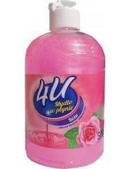 4U Mydło w Płynie Róża 500 ml