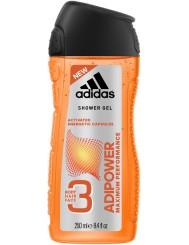 Adidas Żel pod Prysznic do Ciała, Włosów i Twarzy 3-w-1 dla Mężczyzn Adipower 250 ml