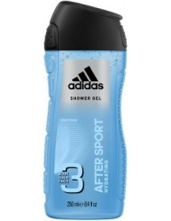 Adidas Żel pod Prysznic do Ciała, Włosów i Twarzy 3-w-1 dla Mężczyzn After Sport 250 ml