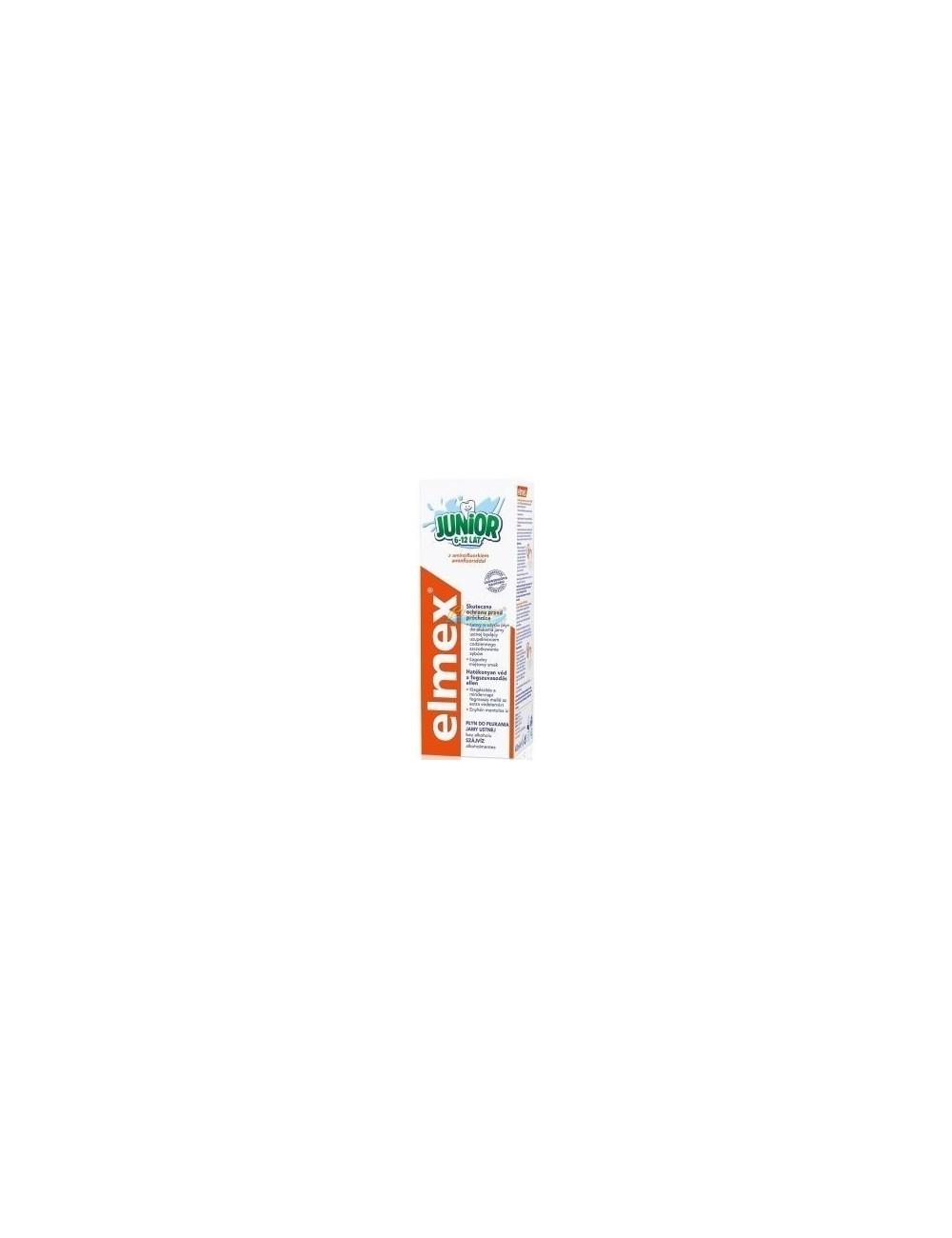 Elmex Płyn do Płukania Jamy Ustnej dla Dzieci (6-12 lat) Junior 400 ml