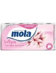 Mola Superwytrzymała Papier Toaletowy Biały Kwitnąca Magnolia 8 rolek