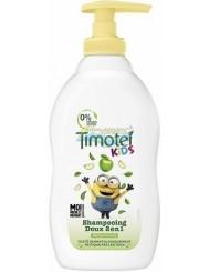 Timotei Szampon do Włosów dla Dzieci z Pompką 2-w-1 Jabłko Minion 400 ml