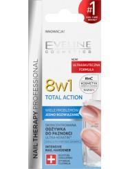 Eveline Nail Therapy 8w1 Total Action Skoncentrowana Odżywka do Paznokci 12 ml