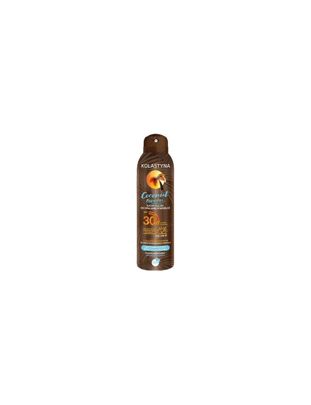 Kolastyna Olejek do Opalania w Mgiełce Suchy Spray SPF30 Coconut Paradise 150 ml