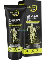 4Active Krem do Golenia Ciała 3-w-1 dla Mężczyzn Aktywnych Fizycznie 200 ml