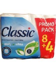 Velvet Classic Papier Toaletowy Klasycznie Biały z Nadrukiem 2 Warstwowy (12 rolek)