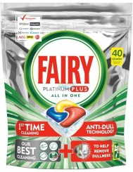 Fairy Kapsułki do Zmywarek Cytryna All-in-One Platinum Plus 40 szt