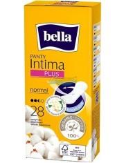 Bella Wkładki Higieniczne Ultracienkie Białe Kwiaty Panty Intima Plus Normal 28 szt