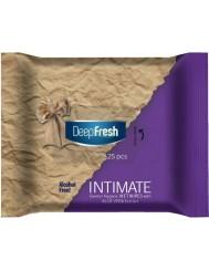 Deep Fresh Chusteczki Nawilżane do Higieny Intymnej z Aloesem 25 szt