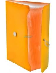 Teczka Harmonijkowa A4 PP z Gumką Pomarańczowa (13 przegród) 1 szt