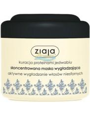 Ziaja Maska do Włosów Niesfornych Wygładzająca z Proteinami Jedwabiu 200 ml