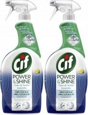 Cif Płyn do Łazienki Spray Power & Shine Zestaw (2x 750 ml)