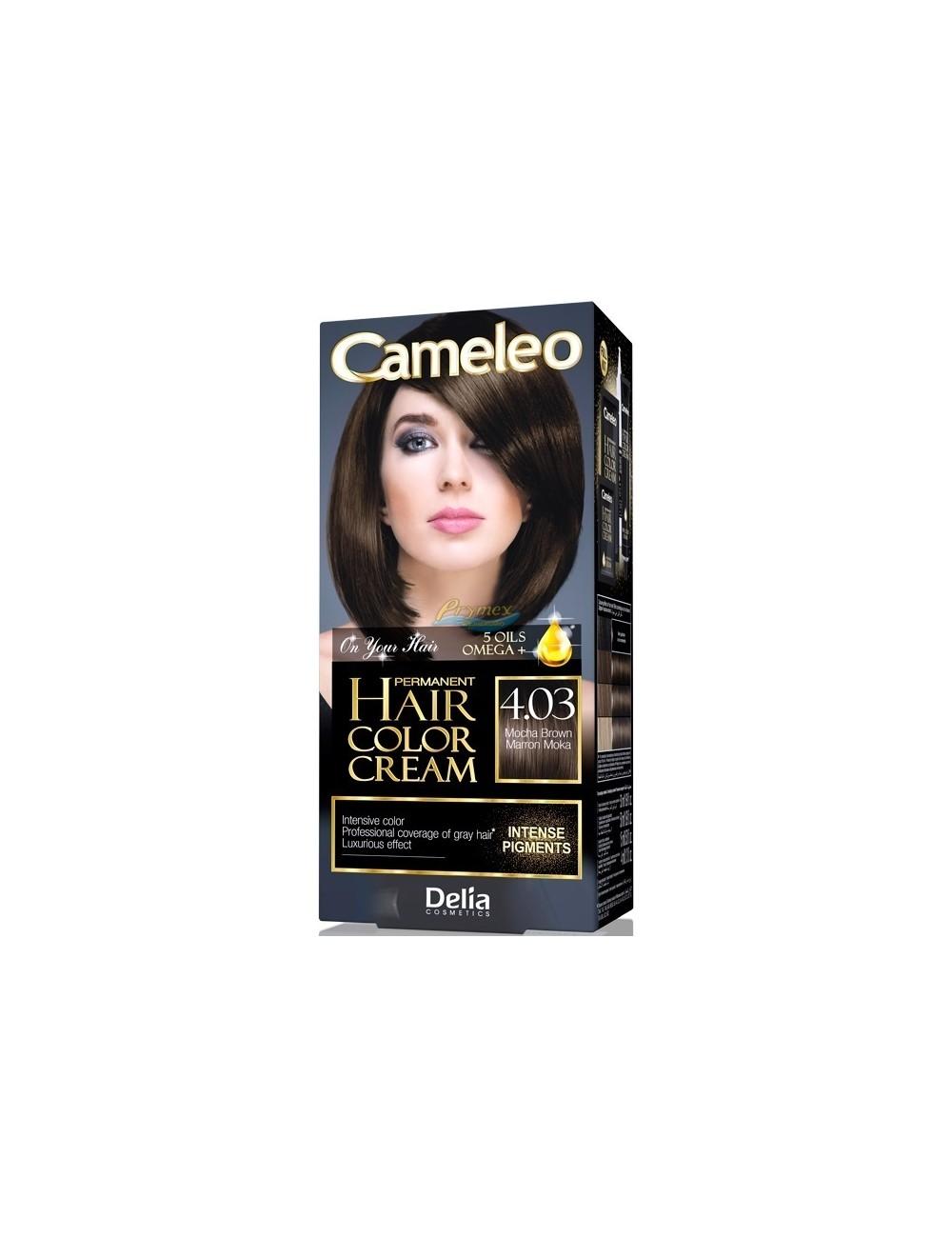 Cameleo Farba do Włosów Trwale Koloryzująca 4.03 Mokka 1 szt