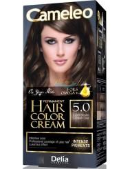 Cameleo Farba do Włosów Trwale Koloryzująca 5.0 Jasny Brąz 1 szt