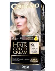 Cameleo Farba do Włosów Trwale Koloryzująca 9.1 Bardzo Jasny Popielaty Blond 1 szt
