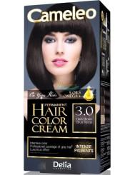 Cameleo Farba do Włosów Trwale Koloryzująca 3.0 Ciemny Brąz 1 szt