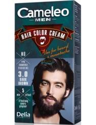 Cameleo Men Farba do Włosów i Brody dla Mężczyzn 3.0 Ciemny Brąz Hair Color Cream 1 szt