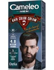 Cameleo Men Farba do Włosów i Brody dla Mężczyzn 4.0 Średni Brąz Hair Color Cream 1 szt