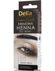 Delia Henna do Brwi Kremowa 3.0 Ciemny Brąz 1 szt