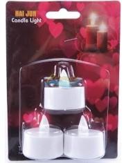 Lampki Dekoracyjne T-Light ze Świeczką LED z Bateriami (szerokość 35 mm) 3 szt