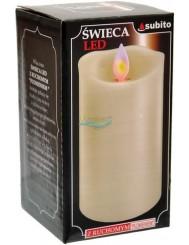 Świeca Dekoracyjna LED z Ruchomym Płomieniem Duża (wysokość 12,5 cm) 1 szt