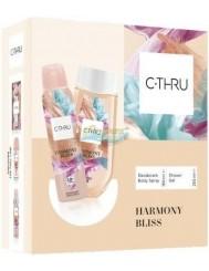 C-THRU Zestaw Damski Harmony Bliss– dezodorant spray 150 ml + żel pod prysznic 250 ml