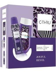 C-THRU Zestaw Damski Joyful Revel – dezodorant spray 150 ml + żel pod prysznic 250 ml