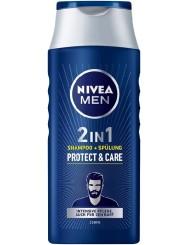 Nivea Men Szampon do Włosów i Brody Protect & Care 250 ml (DE)