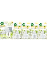 Air Wick Elektryczny Odświeżacz Powietrza Białe Kwiaty Zestaw (wtyczka + 5x zapas 19ml)