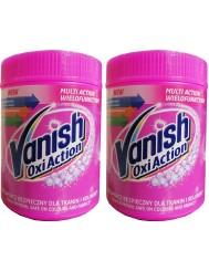 Vanish Odplamiacz w Proszku do Tkanin Kolorowych Zestaw (2x 450 g)