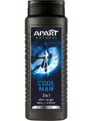 Apart Natural Cool Man Cooling Męski Żel pod Prysznic do Ciała, Twarzy i Włosów 3w1 500 ml