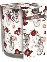 Świeca Zapachowa w Szkle z Graficznymi Wzorami Vintage (~22 h) 1 szt