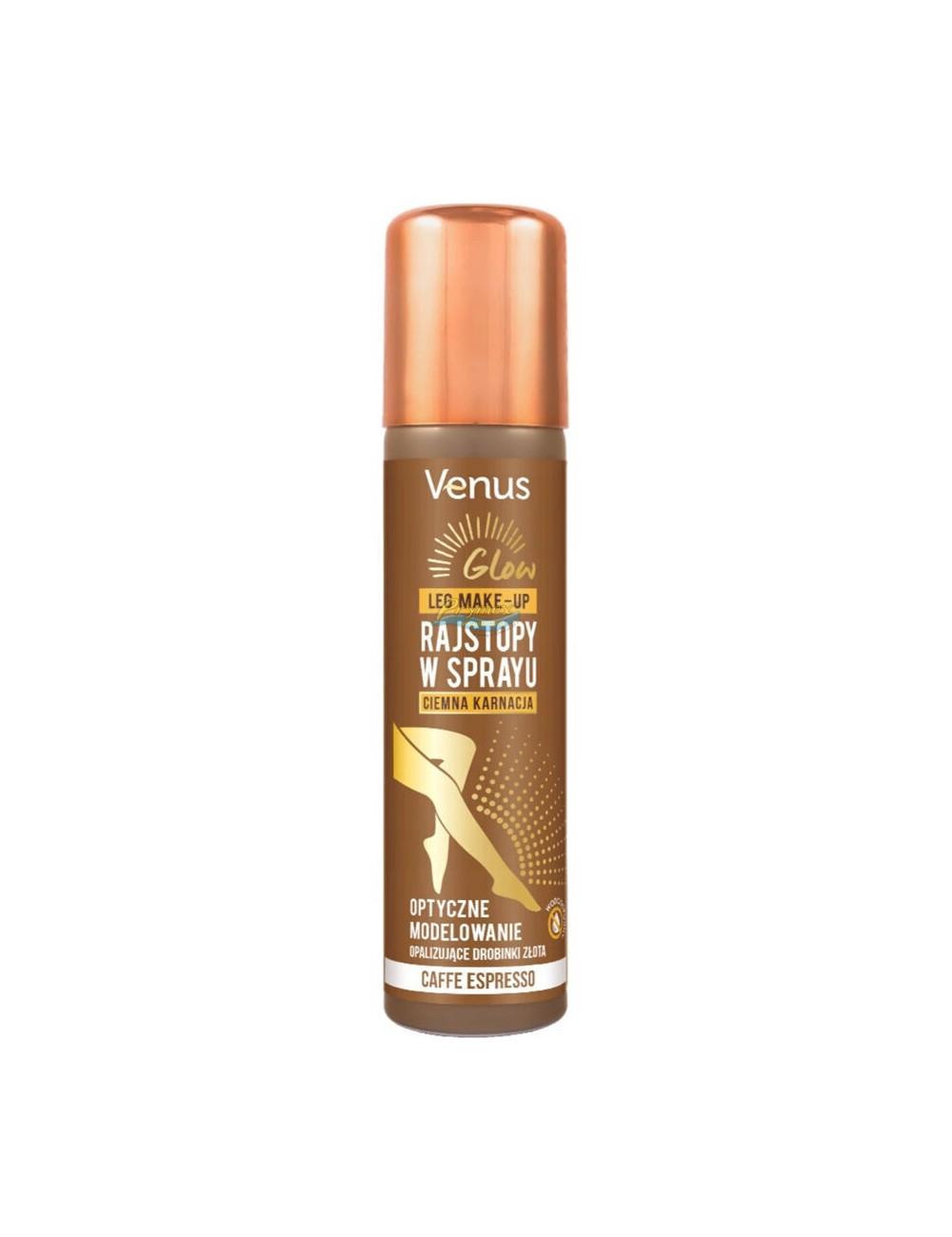 Venus Rajstopy w Sprayu Ciemna Karnacja Glow 75 ml
