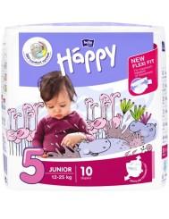 Bella Happy Pieluszki Jednorazowe dla Dzieci Junior 12-25 kg (rozmiar 5) 10 szt