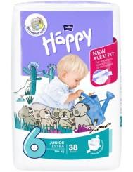 Bella Happy Pieluszki Jednorazowe dla Dzieci Junior Extra 16+ kg (rozmiar 6) 38 szt